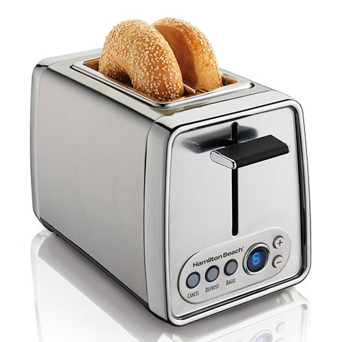 Modern Chrome Digital 2 Slice Toaster