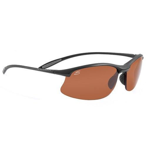 Maestrale Satin Black Sunglasses w/Polar PHD Lenses