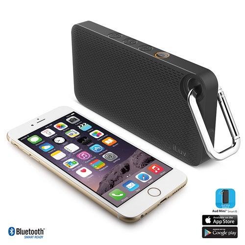 Aud Mini 6 Splash Proof Bluetooth Speaker, Black