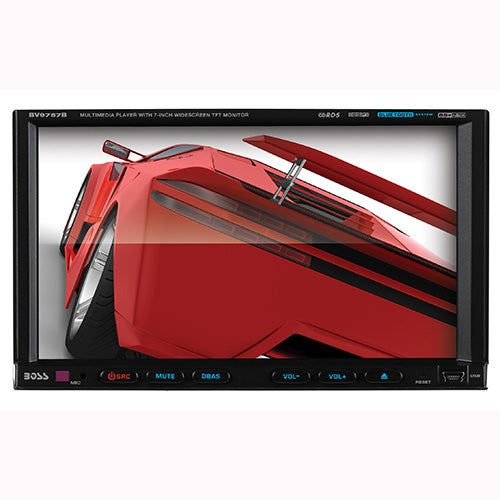 "In-Dash Double-DIN 7"" Motorized Touchscreen Bluetooth DVD Player"