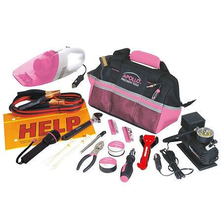 Apollo 54 Piece Roadside Tool Kit- Pink at Sears.com