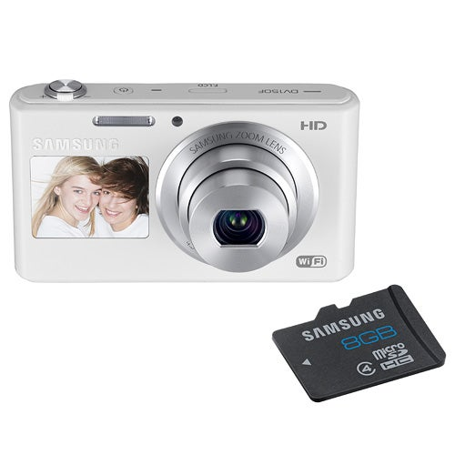 DV150F White Dual View Camera with 8GB MicroSD Card