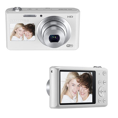DV150F 16.2 Dual View Digital Camera, White
