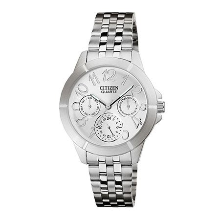 Ladies Quartz Stainless Steel Watch, Silver Dial