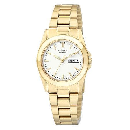 Ladies Gold-Tone Bracelet Watch