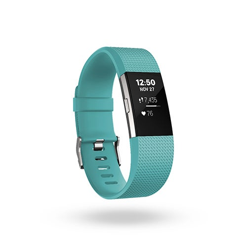Charge 2 Heart Rate + Fitness Wristband, Teal/Silver - Small