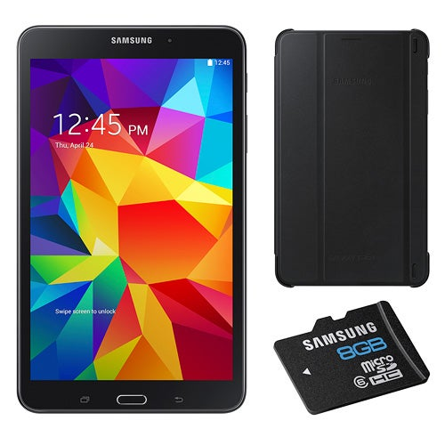 "8"" Galaxy Tab 4 Black with Cover and 8 GB Micro SD"