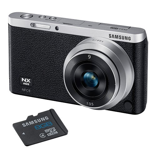 NX Mini Black 20MP w/ Interchangeable Lens and 8GB SD Card