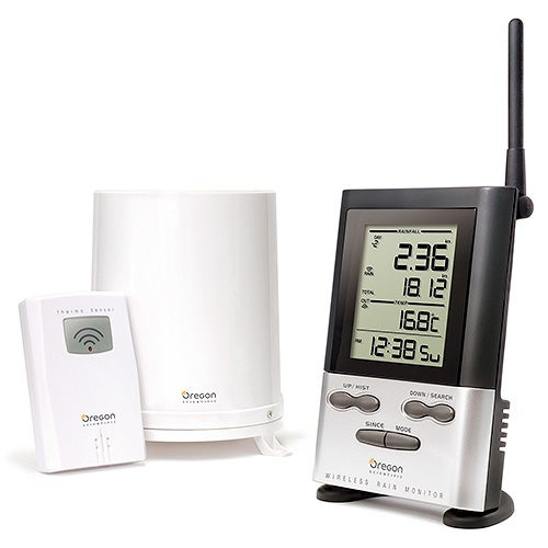 Wireless Rain Gauge with Outdoor Temperature