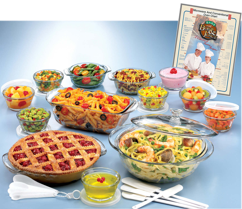 33 piece glass ovenware set power sales product catalog for Alpine cuisine glass bowl set