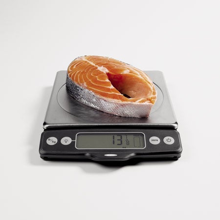 Food Scale with Pull-Out Display