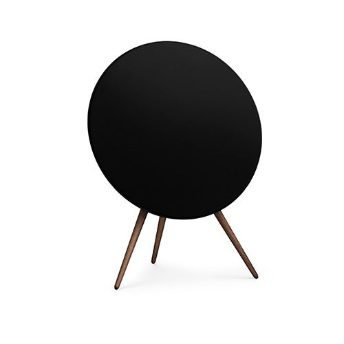 BeoPlay A9 Home Speaker, Black with Walnut Legs