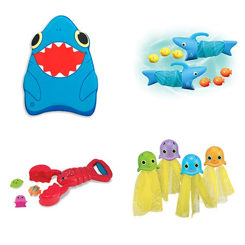 Lets Play in the Pool Bundle - Kickboard, Sinkers, Fish Hunt and Catcher