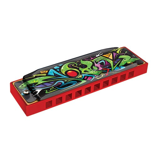 Red Dragon Tagged Harmonica, Key of C