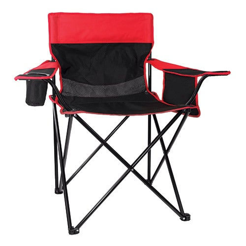 Oversized Arm Chair, Black/Red