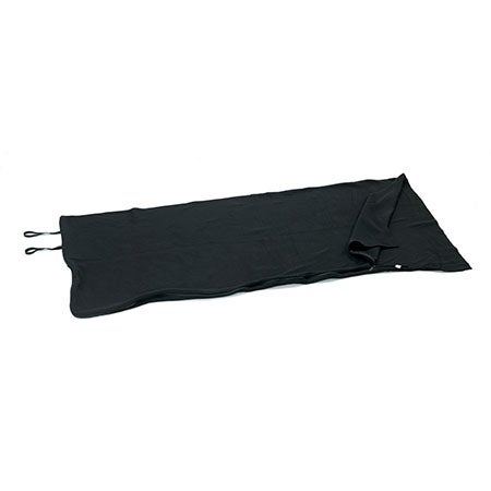 "Black Fleece Sleeping Bag, 75"" x 32"""