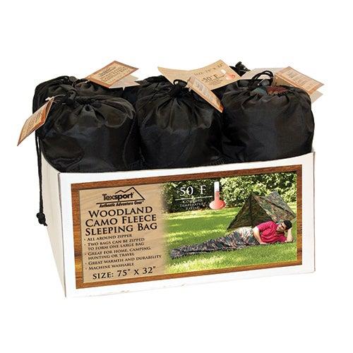 Woodland Camouflage Sleeping Bag/Liner