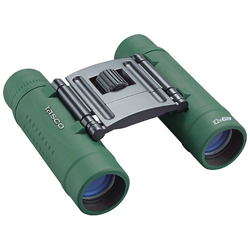 Essentials 10x25 Roof Compact Binoculars, Green