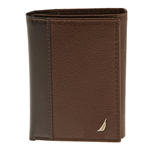 Trifold Leather Wallet, Brown