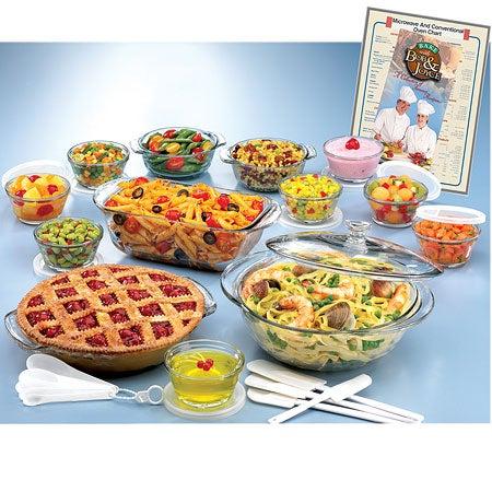 33-piece Glass Ovenware Set