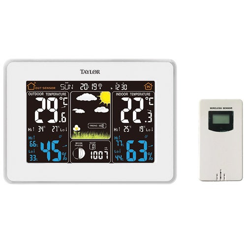 WeatherGuide Deluxe Digital Weather Forecaster w/ Barometer