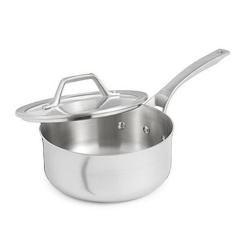 Signature Stainless Steel 2.5 Qt Shallow Sauce Pan w/ Cover