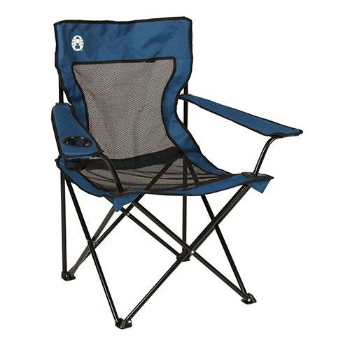 Broadband Mesh Quad Chair & Pocket, Gray/Blue