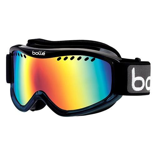 Carve Ski Goggles, Black Blue Fade/Blue Mirror