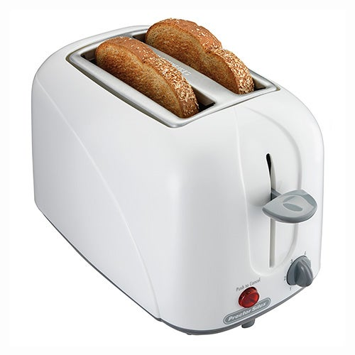 2 Slice Cool Touch Toaster, White