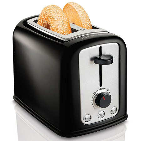 2 Slice Cool Touch Toaster, Black