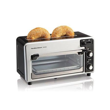Toastation Toaster & Oven, Black