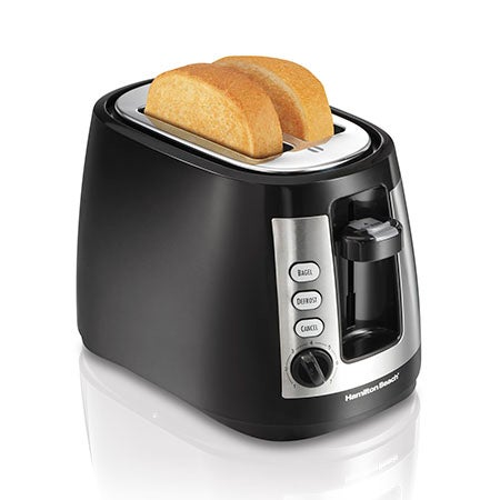 Warm Mode 2-Slice Toaster, Black
