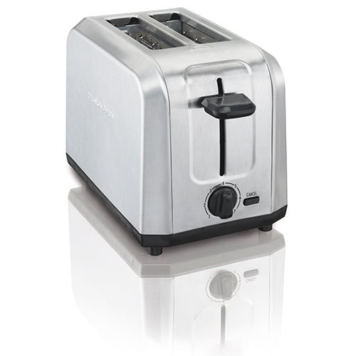 Brushed Stainless Steel 2-Slice Toaster w/ Extra Wide Slots