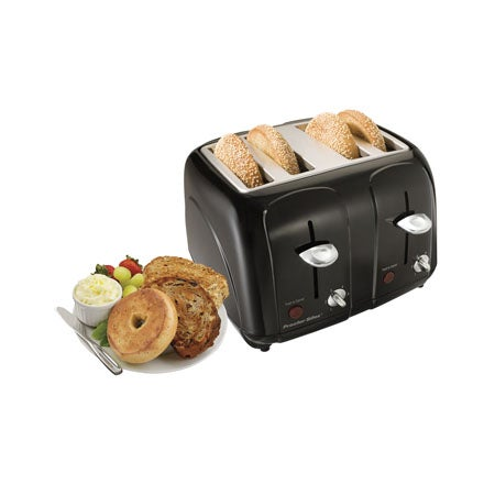 4 Slice Cool-Touch Toaster, Black