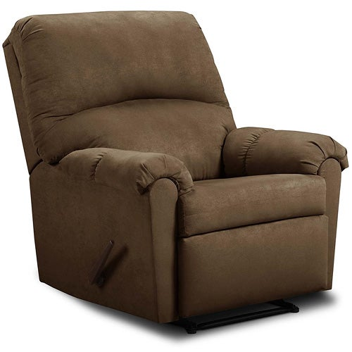 Microfiber Recliner, Chocolate Brown