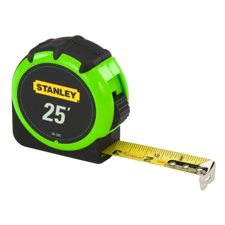 High Visibility Tape Measure, 25-ft x 1-in