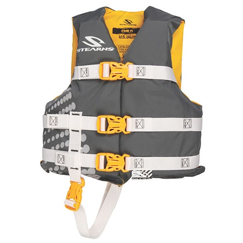 Stearns Child USCG Approved Vest, Gold - 30-50lbs