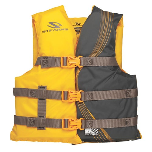 Stearns Youth USCG Approved Vest, Gold - 50-90lbs