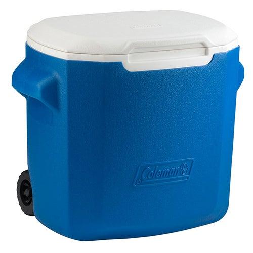 28 Qt Wheeled Cooler, Blue