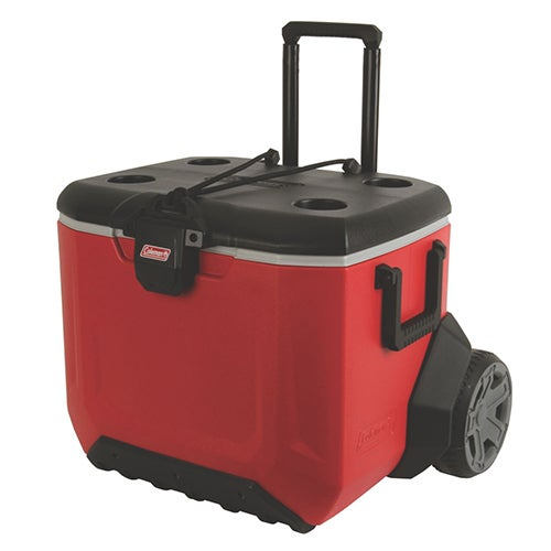 55-Quart Rugged A/T Wheeled Cooler, Red