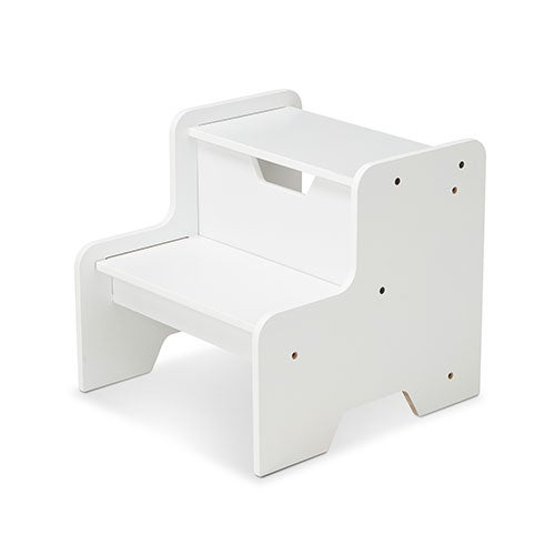 Wooden Step Stool, White - Ages 3+ Years