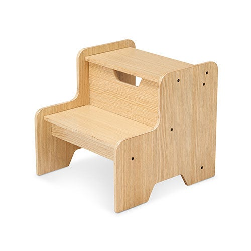 Wooden Step Stool, Natural - Ages 3+ Years