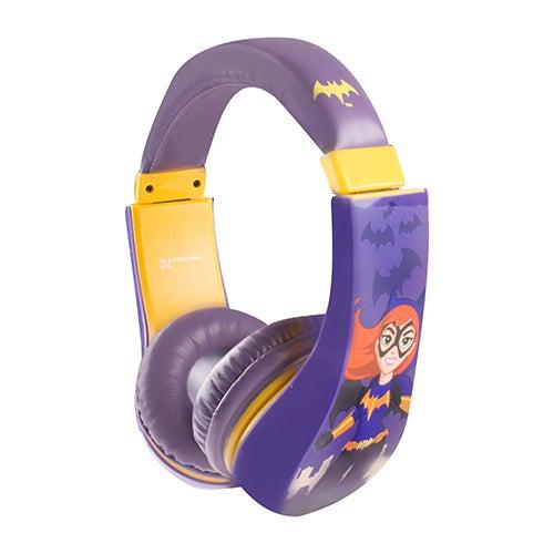 Batgirl Kid Friendly Volume Limiting Headphones, Ages 3-9 Years