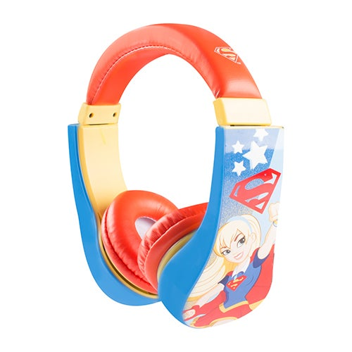 Supergirl Kid Friendly Volume Limiting Headphones, Ages 3-9 Years