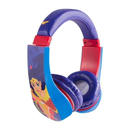 Wonder Woman Kid Friendly Volume Limiting Headphones, Ages 3-9 Years