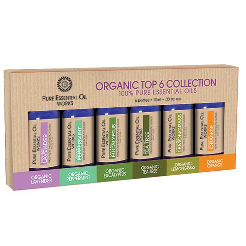 Organic Top 6 Essential Oils Collection
