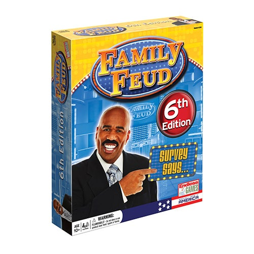 Family Feud Classic 6th Edition Board Game, Ages 10+ Years