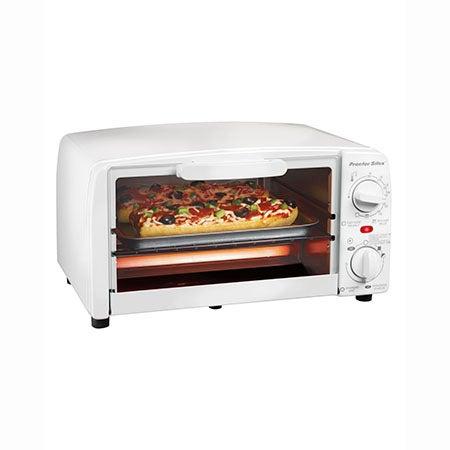 4 Slice Toaster Oven, White