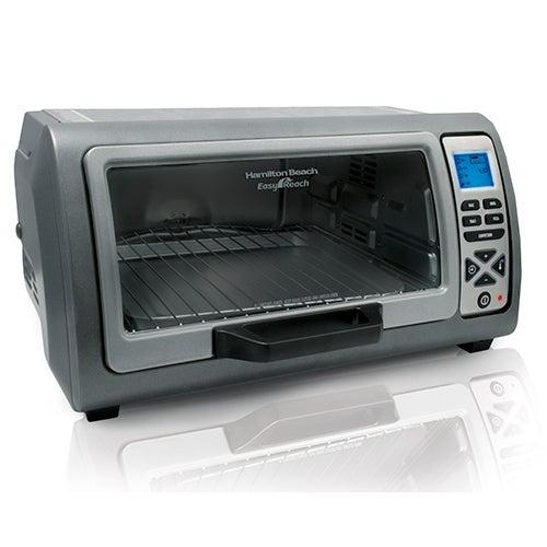 Easy Reach Toaster Oven w/ Roll-Top Door