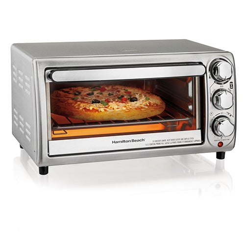 4-Slice Silver Toaster Oven